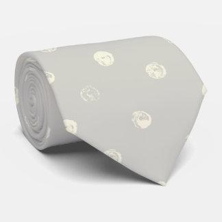 Pale Gray wih Pale Yellow Dots Tie
