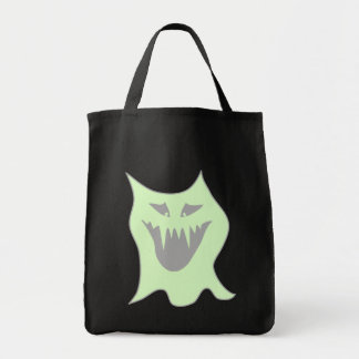 Pale Green and Gray Monster Cartoon Tote Bag