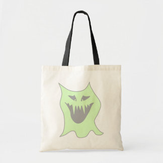 Pale Green and Gray Monster Cartoon Canvas Bag