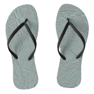Pale green embossed-effect geometric design thongs