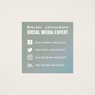 Pale green grey syle professional cover square business card