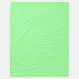 Pale Green (Light Green) Pastel Solid Colour Fleece Blanket