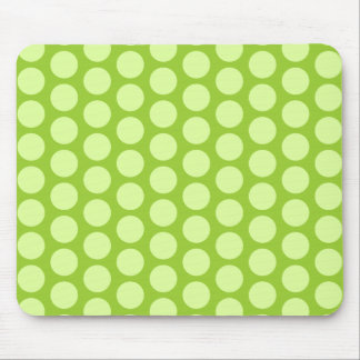 Pale Green Polka Dots Mouse Pad