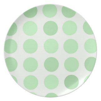 Pale Green Polka Dots Plate