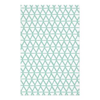 Pale Green Small Lattice graphic pattern Customized Stationery