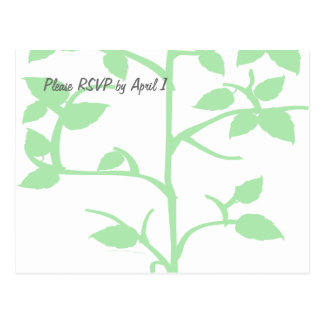 Pale Green Tree RSVP Postcard