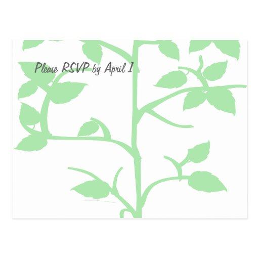 Pale Green Tree RSVP Postcards