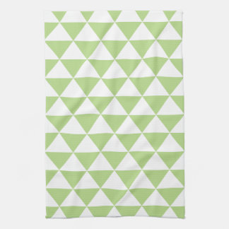 Pale Green Triangle Pattern Kitchen Towels