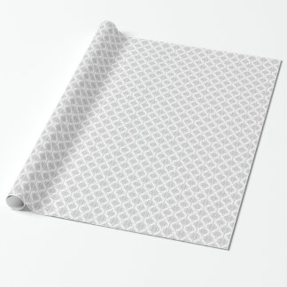 Pale Grey and White Damask Pattern