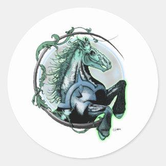 Pale Horse Round Sticker