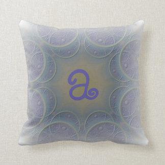 Pale Lavender Designed Monogram Cushion