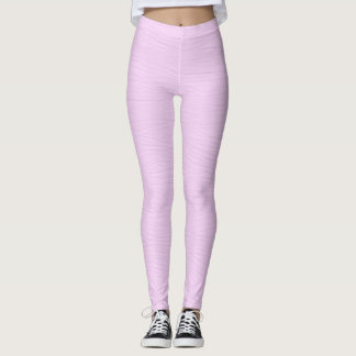 Pale Lavender Wood Grain Texture Leggings