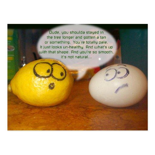 Pale Lemon Post Cards