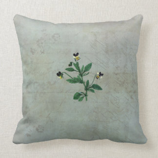 Pale Lichens and Wild Violas Cushion