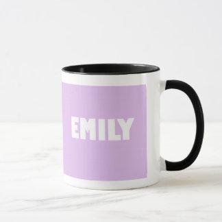 Pale lilac shade Emily name Mug