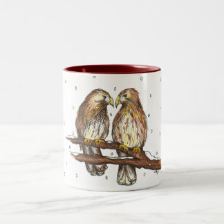 Pale Male Lola Central Park Birds Christmas Mug