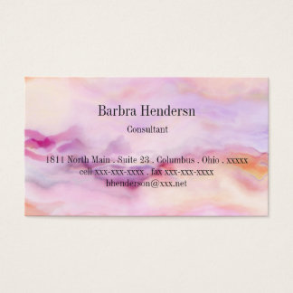Pale Marbled Pink Business Card