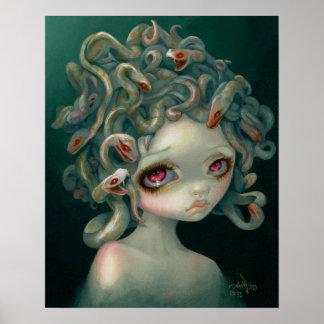 Pale Medusa ART PRINT pop surrealism big eye art