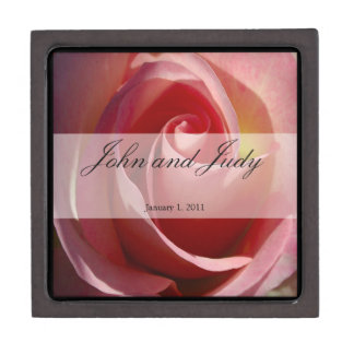 Pale Moon Rose Personal Wedding Premium Keepsake Boxes