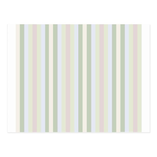 Pale Multicolor Stripes Post Card