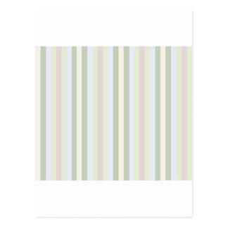 Pale Multicolor Stripes Postcard