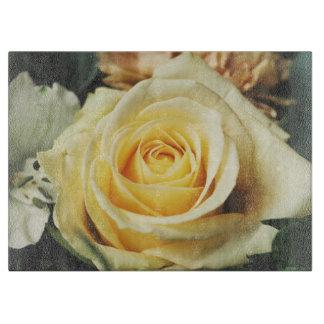 Pale Off White Rose Cutting Board
