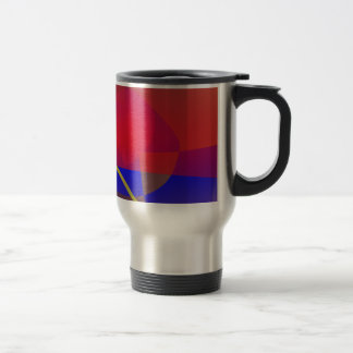 Pale Orange and Blue Contrast Stainless Steel Travel Mug