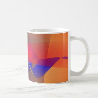 Pale Orange and Blue Contrast Coffee Mugs