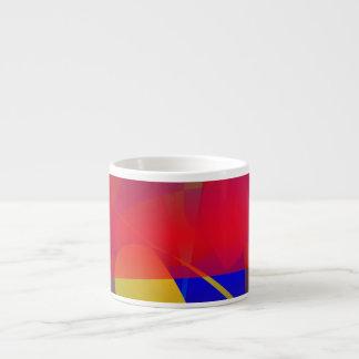 Pale Orange and Blue Contrast Espresso Cup