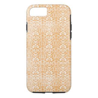 Pale Orange Damask Aged Pattern iPhone 8/7 Case