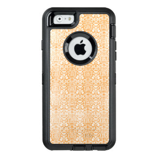 Pale Orange Damask Aged Pattern OtterBox Defender iPhone Case