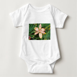 Pale orange spotted Blackberry lily Baby Bodysuit