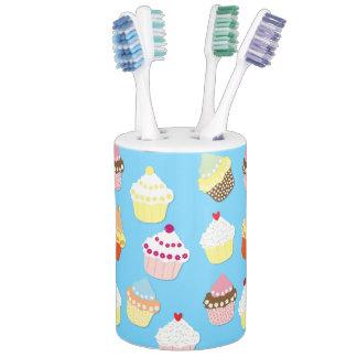 Pale Pastel Blue Cup Cakes Bathroom Set
