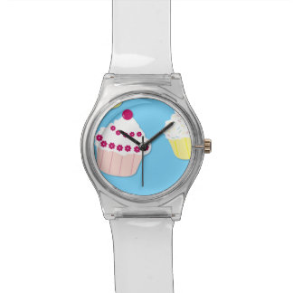 Pale Pastel Blue Cup Cakes Watch