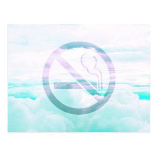 "Pale Pastel ""No Smoking"" Design Postcards"