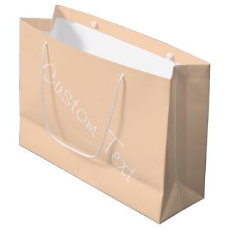 Pale Peach Angelskin Coral Pastel Custom Text Large Gift Bag