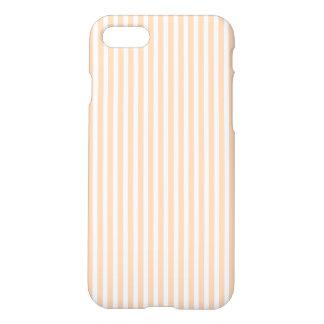 Pale Peach Angelskin Coral & White Stripe iPhone 8/7 Case