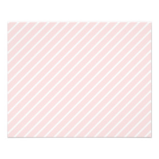 Pale Peach Pink Diagonal Stripes. 11.5 Cm X 14 Cm Flyer