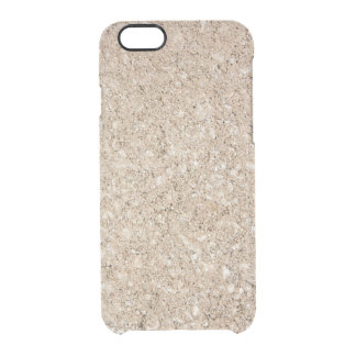 Pale Peachy Beige Cement Sidewalk Clear iPhone 6/6S Case