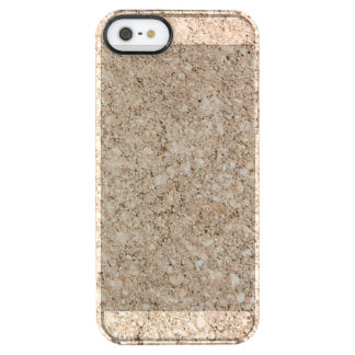 Pale Peachy Beige Cement Sidewalk Clear iPhone SE/5/5s Case