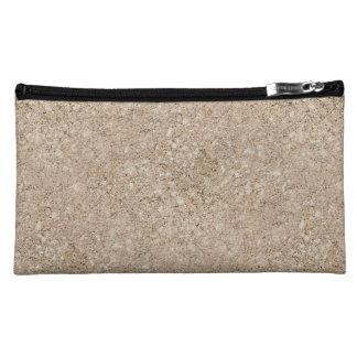 Pale Peachy Beige Cement Sidewalk Makeup Bag