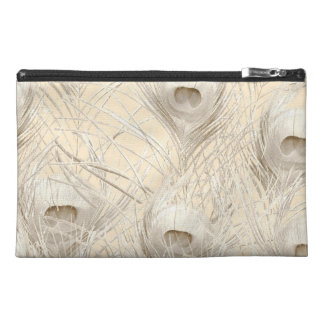 Pale Peacock Tablet sleeve Zippered pouch clutch Travel Accessory Bags