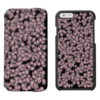Pale Pink and Black Stars Kawaii Punk Incipio Watson™ iPhone 6 Wallet Case
