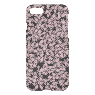 Pale Pink and Black Stars Kawaii Punk iPhone 8/7 Case