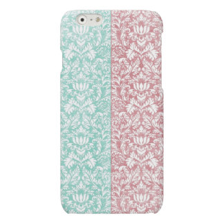 Pale Pink and Blue Damask Floral Kawaii
