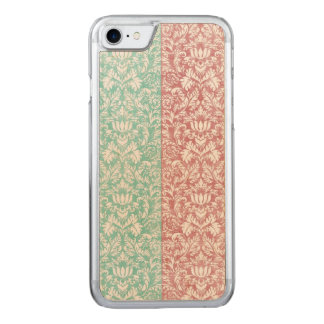 Pale Pink and Blue Damask Floral Kawaii Carved iPhone 8/7 Case