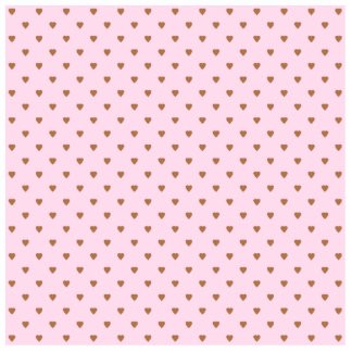 Pale pink and brown heart pattern. photo cutout