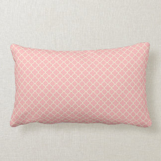 Pale Pink and cream ornate Lumbar Cushion