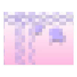 Pale Pink and Purple Squares Pattern. Postcard