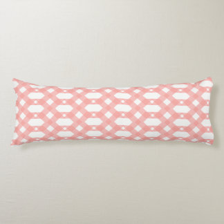 Pale pink and white honeycomb design body cushion
